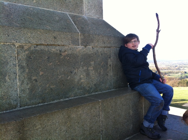 Sam at Coombe Hill Monument