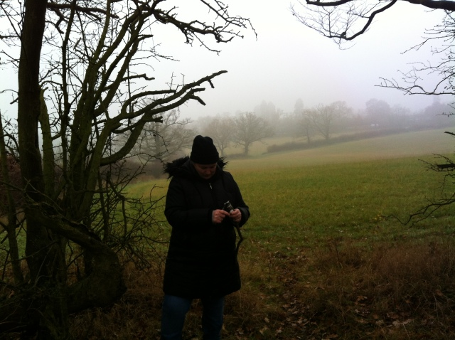 Shar is only just visible amongst the treeline with a dramtic backgrop of ... Fog