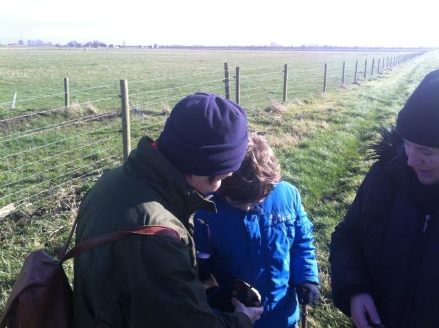 Mum shows Sam the log cache