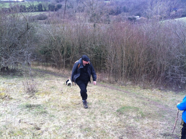 Geoff and Smokey head back down the hill after the democratic parliament of pugwash is disbanded.