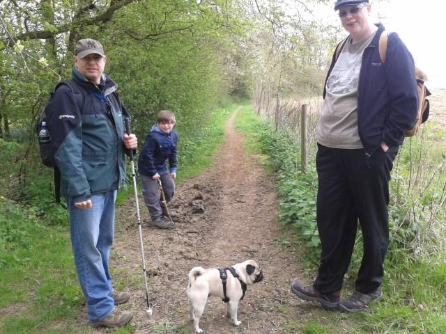 Sam, Geoff, Paul and Smokey stride out on teh walk