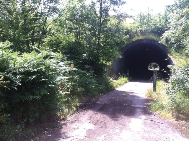 The picture shows the tunnel that leads underneath the M25 motorway.