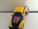British Bug is a VW Beetle Kering with a British flag on teh side.