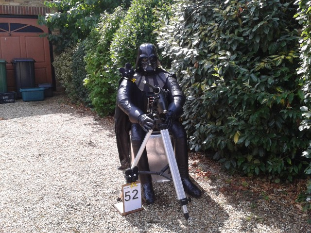 Evil Triumphs - Darth Vader - the winning scarecrow with over 1500 votes!