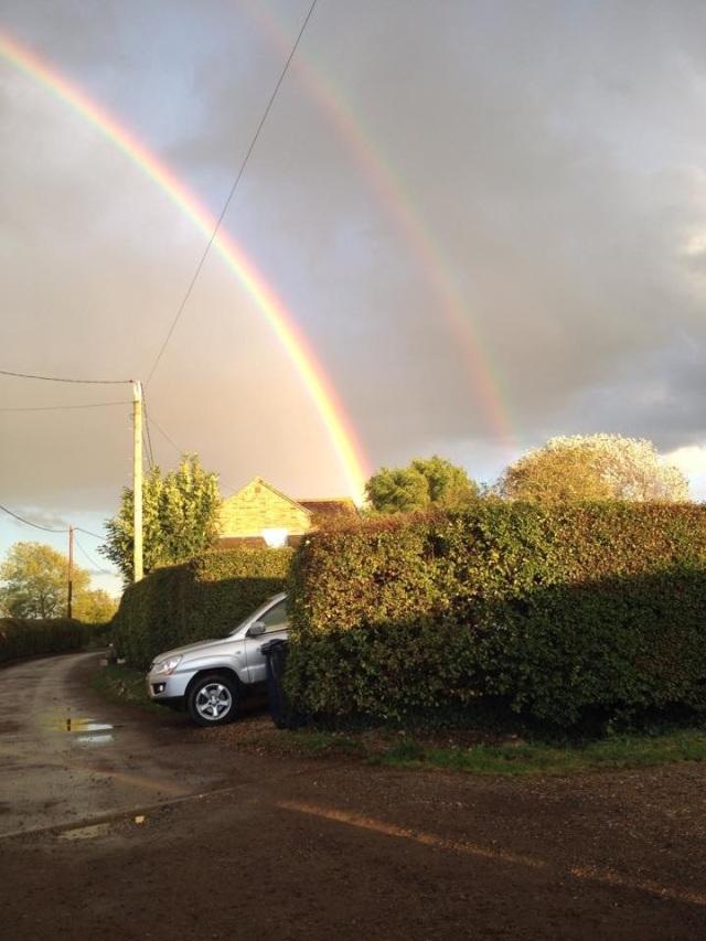 A stunning double rainbow