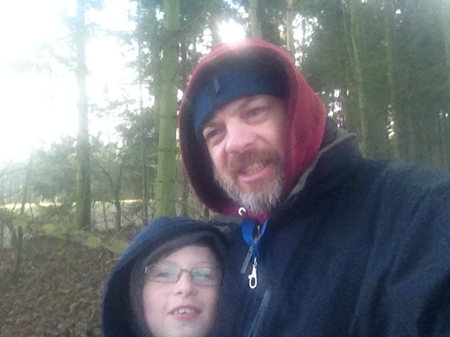 Paul and Sam pose for a selfie in the woods where they failed to find Bones9 M10 view