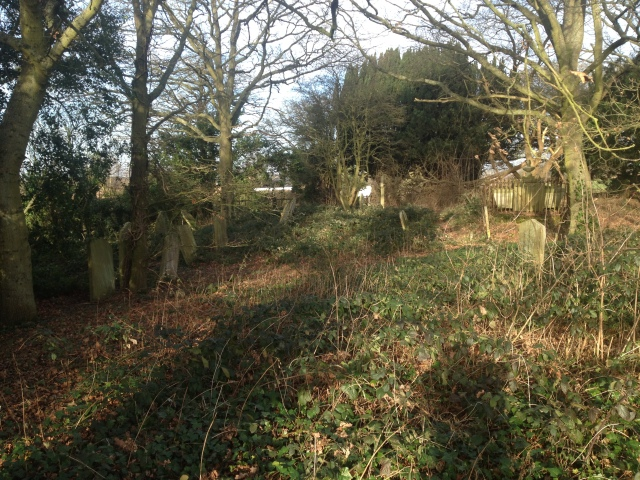 Old graves poke out from the long and untended grass in this disused graveyard.