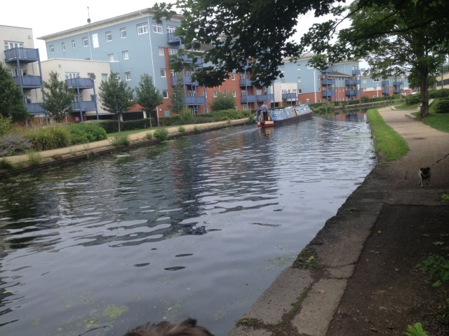 A view of the canal taken from near the Tesco in Yiewsley