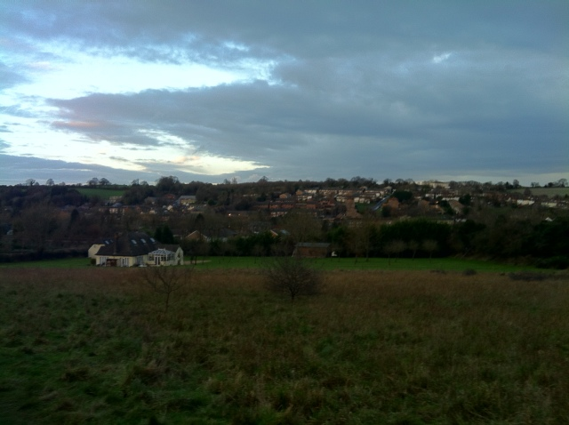 A view across Hodds wood towards Chesham
